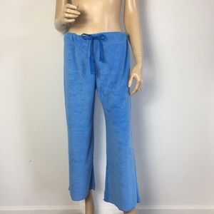 Lucky Brand Blue Bathing Terry Crop Pants M/L